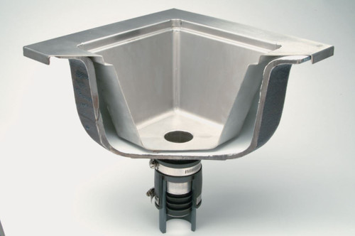 Replace rusted floor sinks with new liner