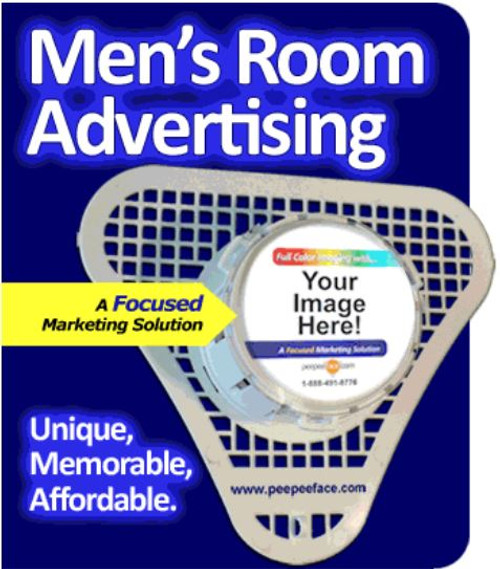 Bathroom advertising on urinal screens