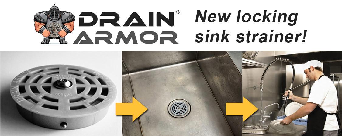 Drain Armor Restaurant Sink Strainer Lock