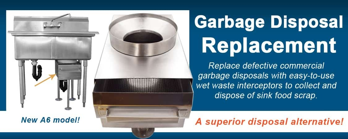 Commercial Garbage Disposal Replacement for restaurant food solids