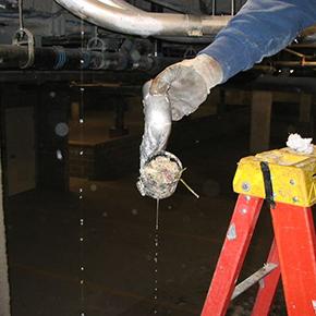 Broken Plumbing Lines in Food Service Establishment