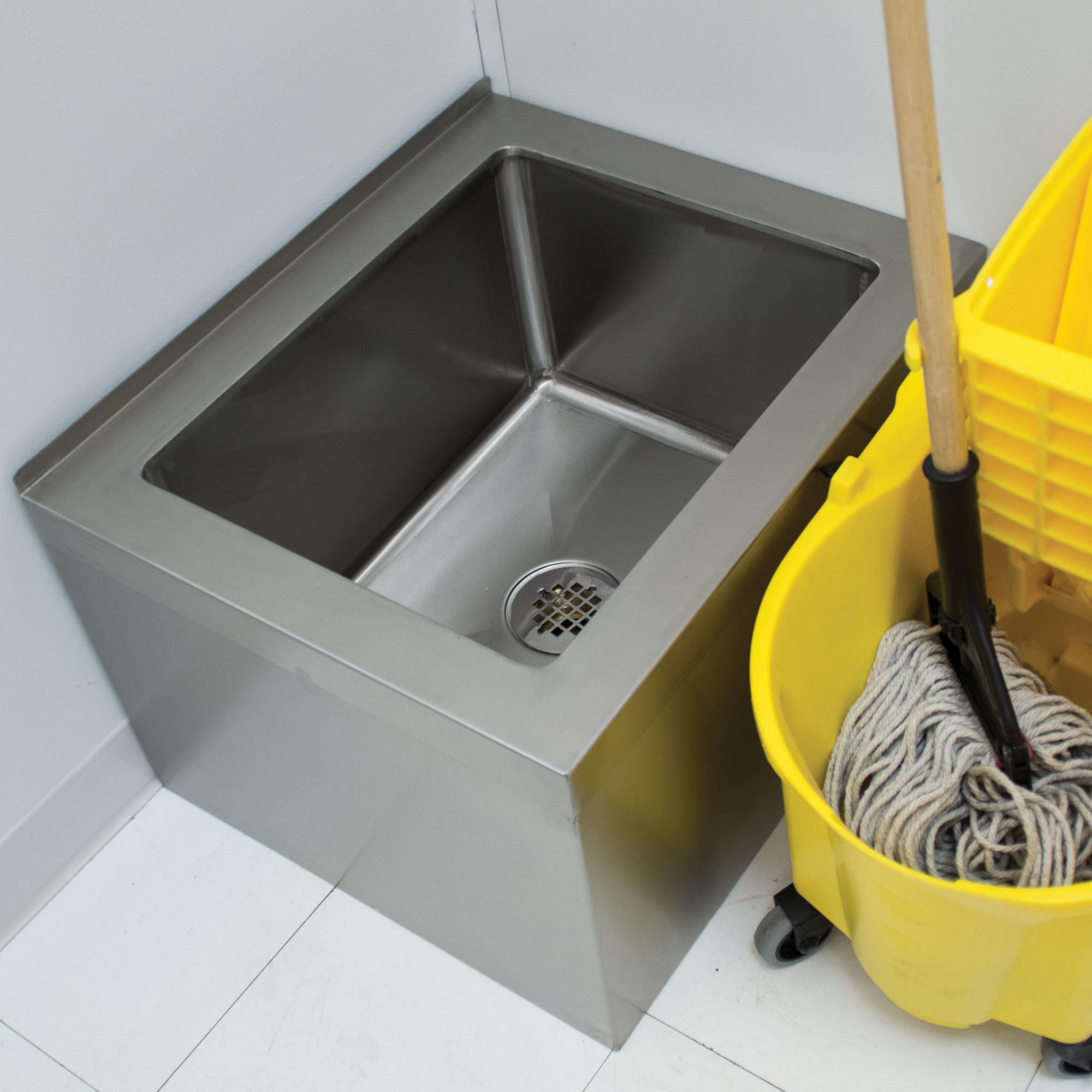 """9-OP-40 16"""" x 20"""" x 12"""" Floor Mounted Mop Sink"""