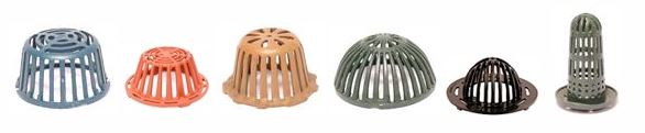 rooftop dome strainers