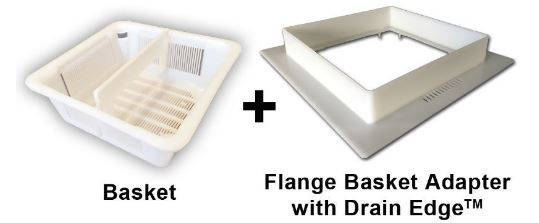 """8.5"""" FLOOR SINK BASKET & FLANGE ASSEMBLY WITH DRAIN EDGE"""