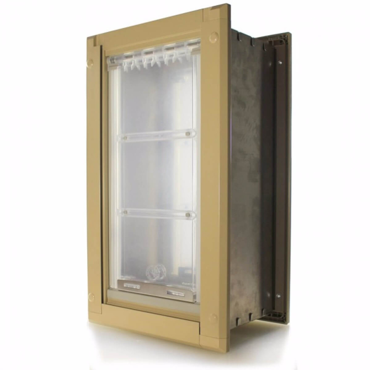 Endura Flap pet doors have a cut to fit tunnel that works for walls with 2x4 or 2x6 studs