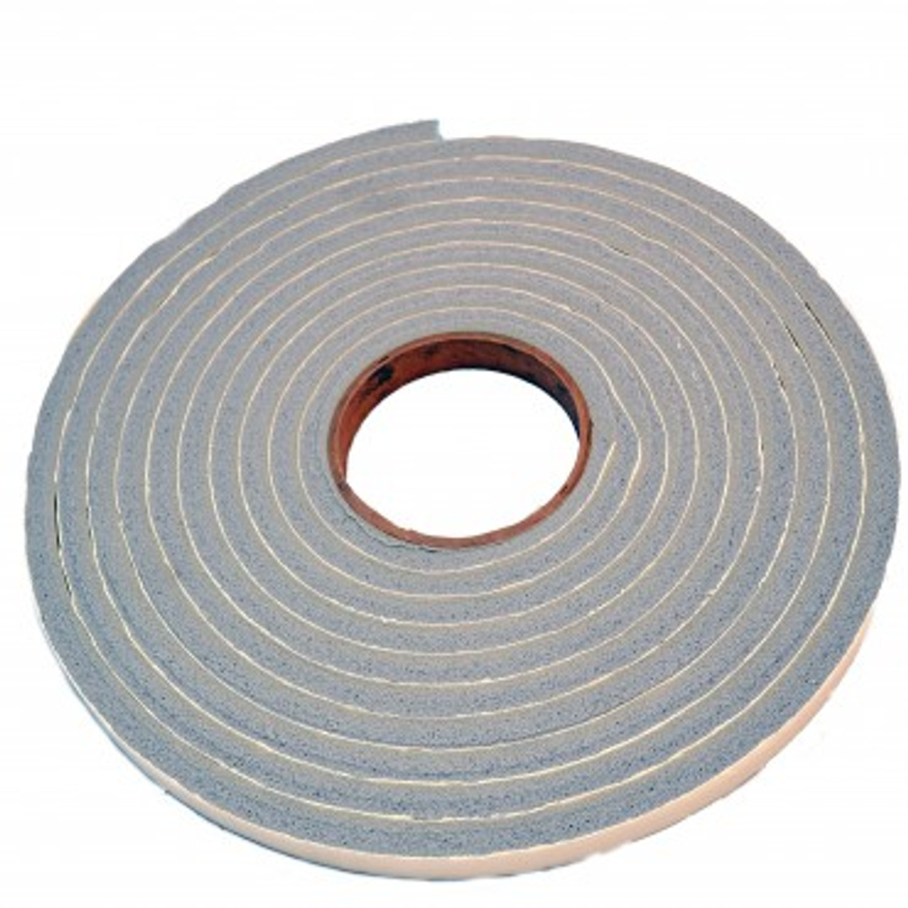 This adhesive weather strip is applied to the sides of a panel pet door for a sliding glass door to seal the pet door to the sliding door and the wall