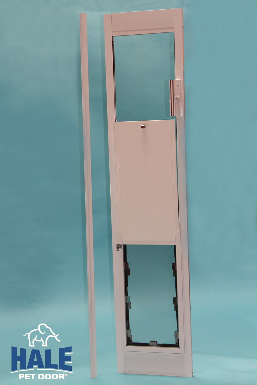 Hale Standard Panel dog door comes with a secure locking cover that pins to the frame so that it cannot be lifted from the outside