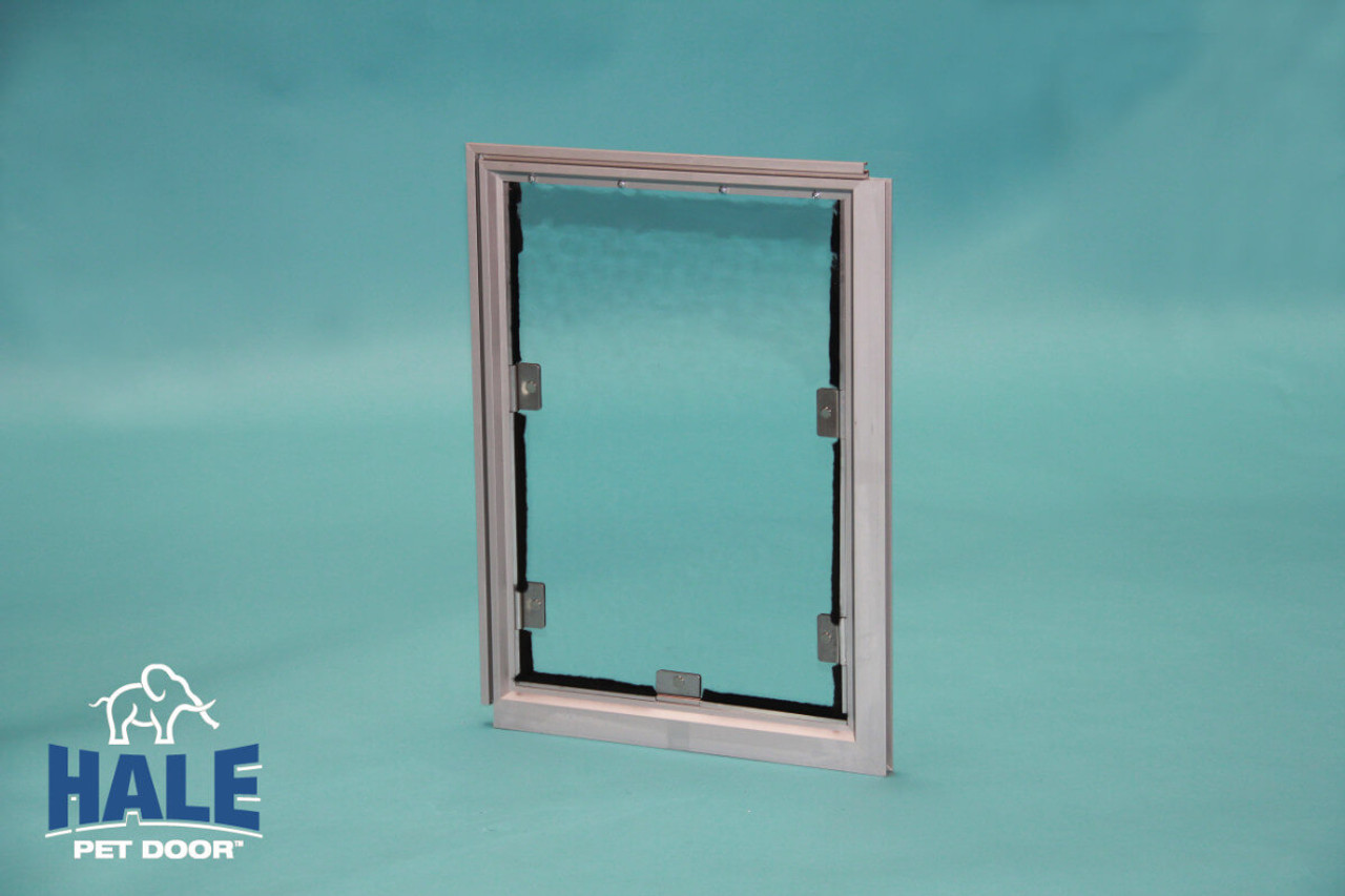 Hale Screen Pet Doors are strong enough for large dog breeds because they attach to the frame