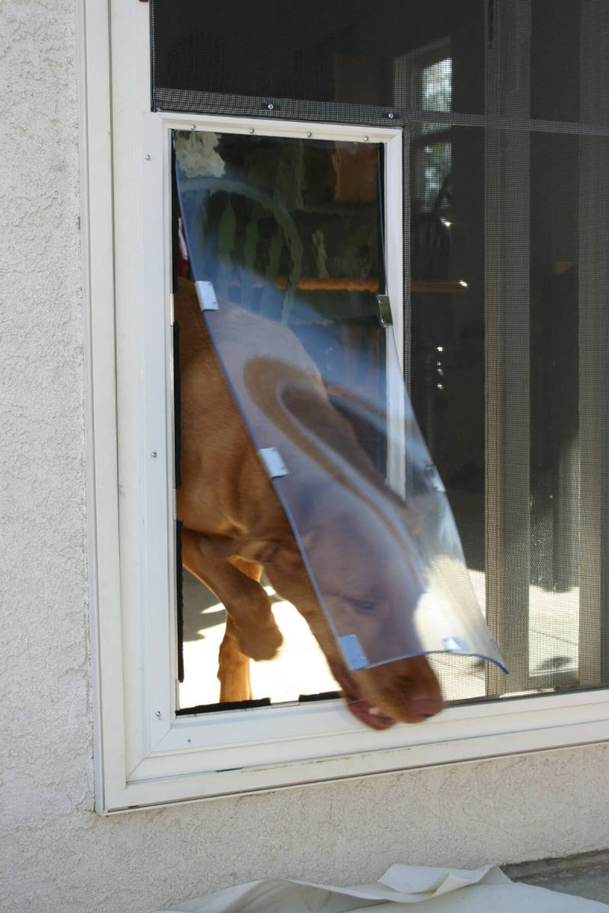Hale Screen Pet Door is available in very tall sizes for larger breeds