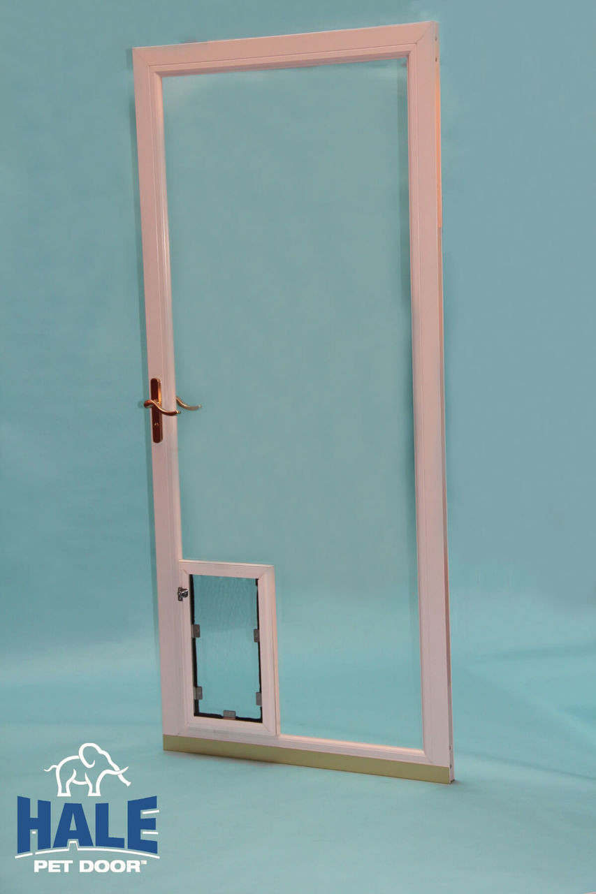 Hale In Glass pet doors can be fitted by a local glazier and work for sliding glass doors french doors and windows