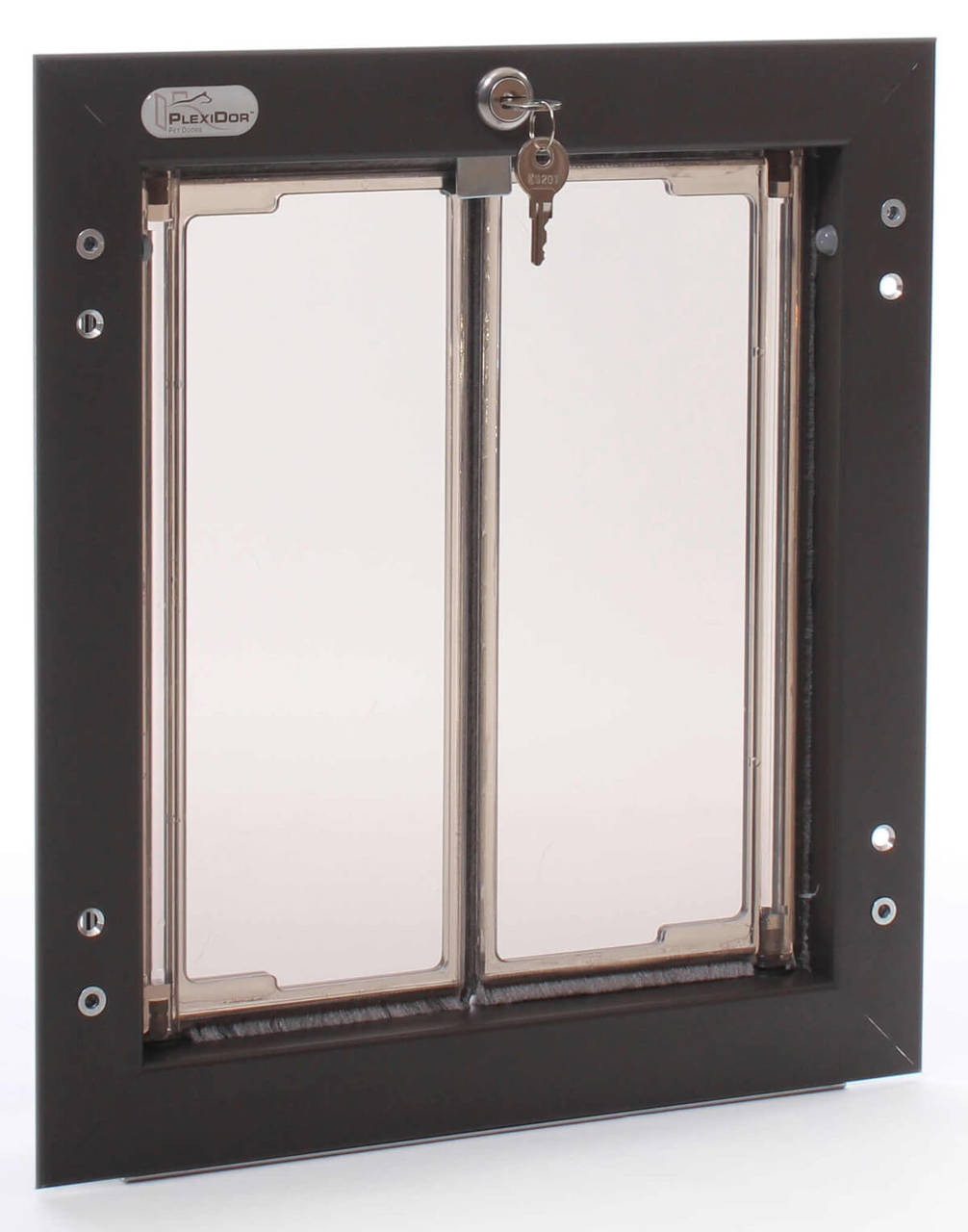 Plexidor pet doors come in a medium size that fits border collies australian shepherds shelties dachhunds and other dogs up to about 40 pounds