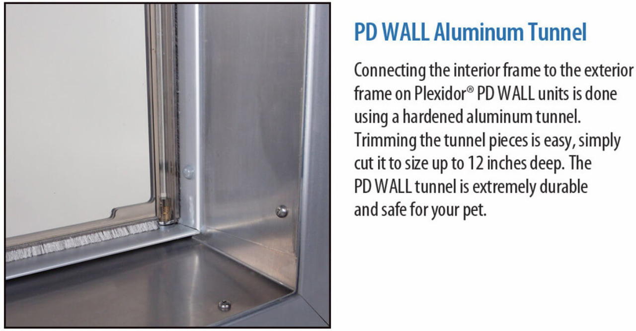 PlexiDor Wall doggie doors have hollow plexiglas flaps which insulate well