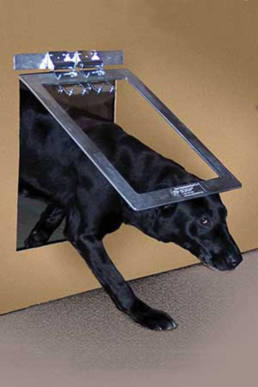 Gun Dog House Door heavy duty dog doors live up to their name and are tough enough for industrial and kennel usage