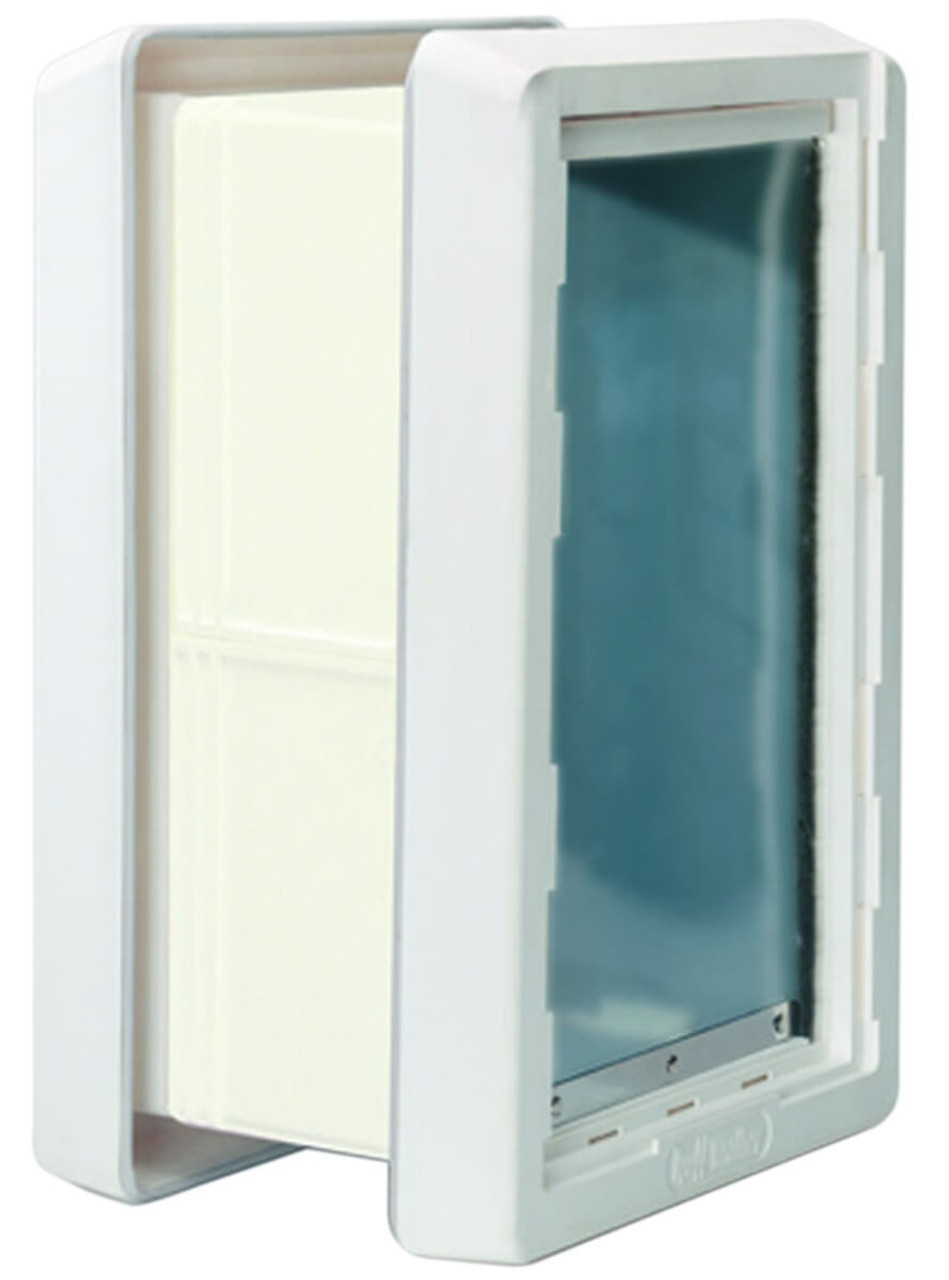 Ideal Ruff Weather Wall Kits are used with the Ruff Weather pet door to seal the insulation layer of the wall