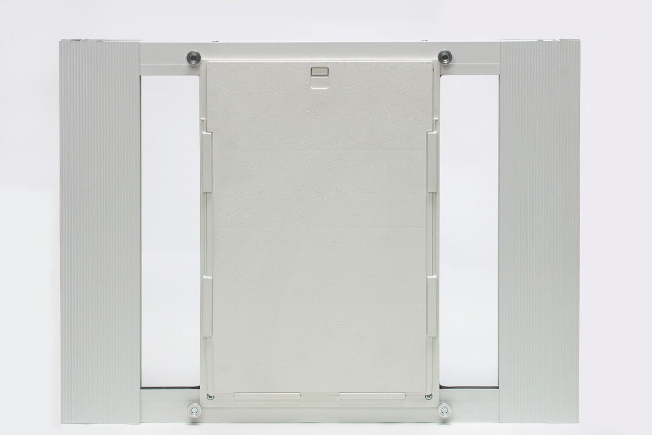 Ideal Fast Sash window pet doors can be had in several adjustment widths