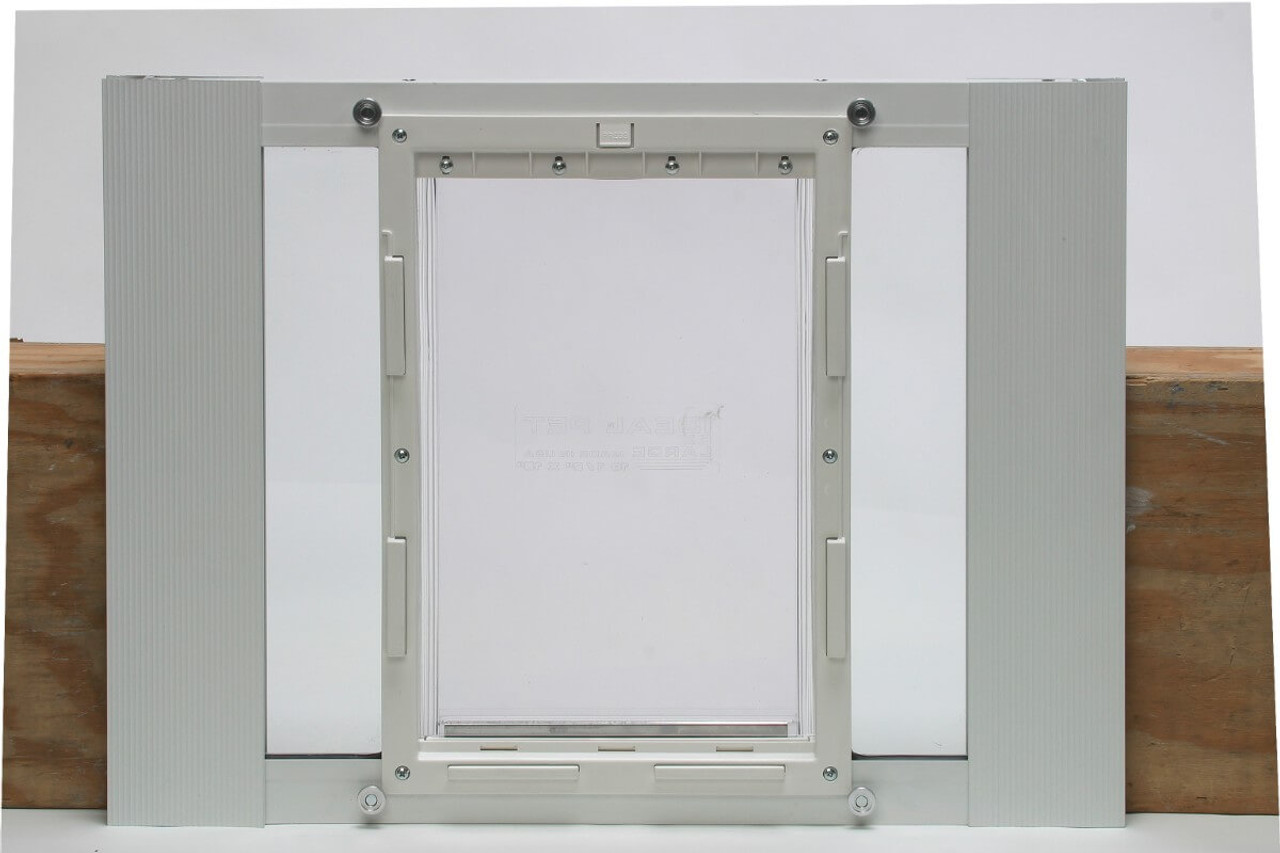Ideal Fast Sash window pet doors come in pet door sizes for cats up to german shepherd labrador golden retriever size dogs