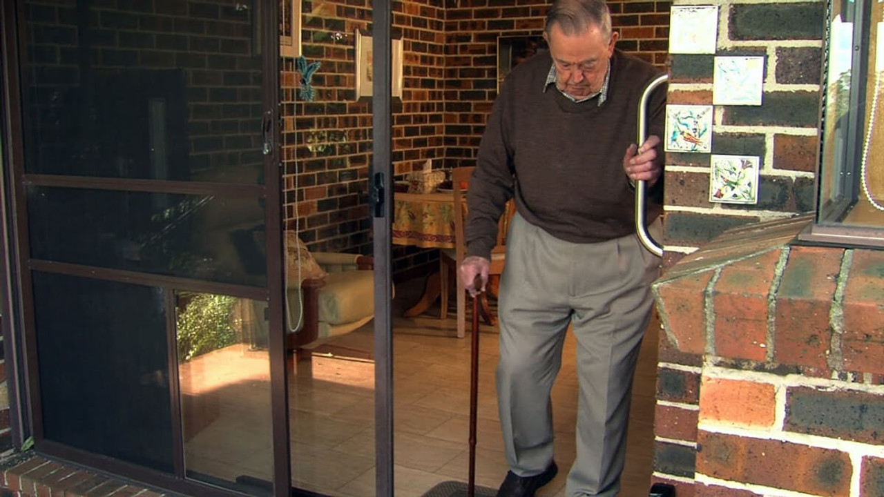 Autoslide sliding glass door openers can be used to open the door for people with canes walkers and wheelchairs