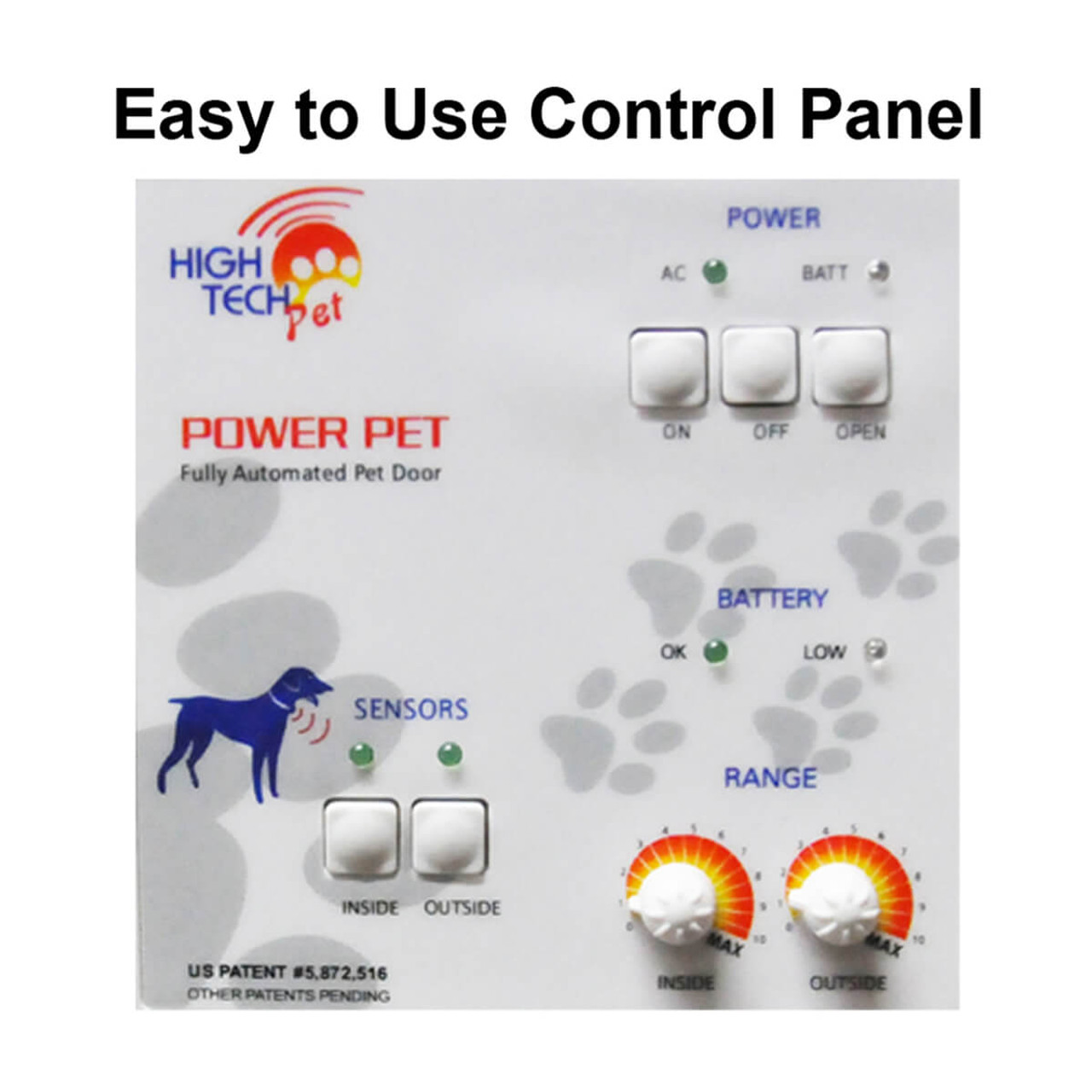 High Tech Electronic Motorized Doggy Doors Have Settings So You Can Only  Let Your Pets In
