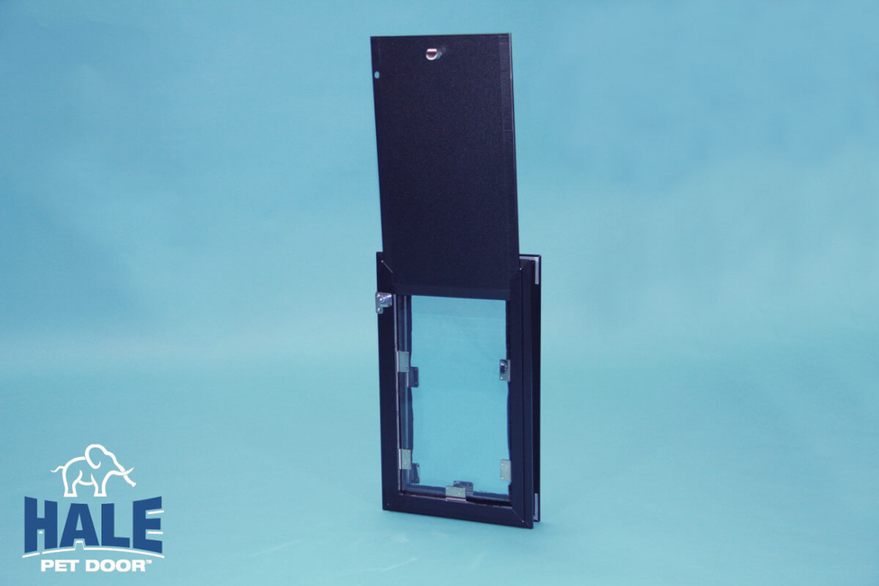 Hale Pet Door comes with a matching locking cover that locks to the frame to prevent it from being lifted out from the outside