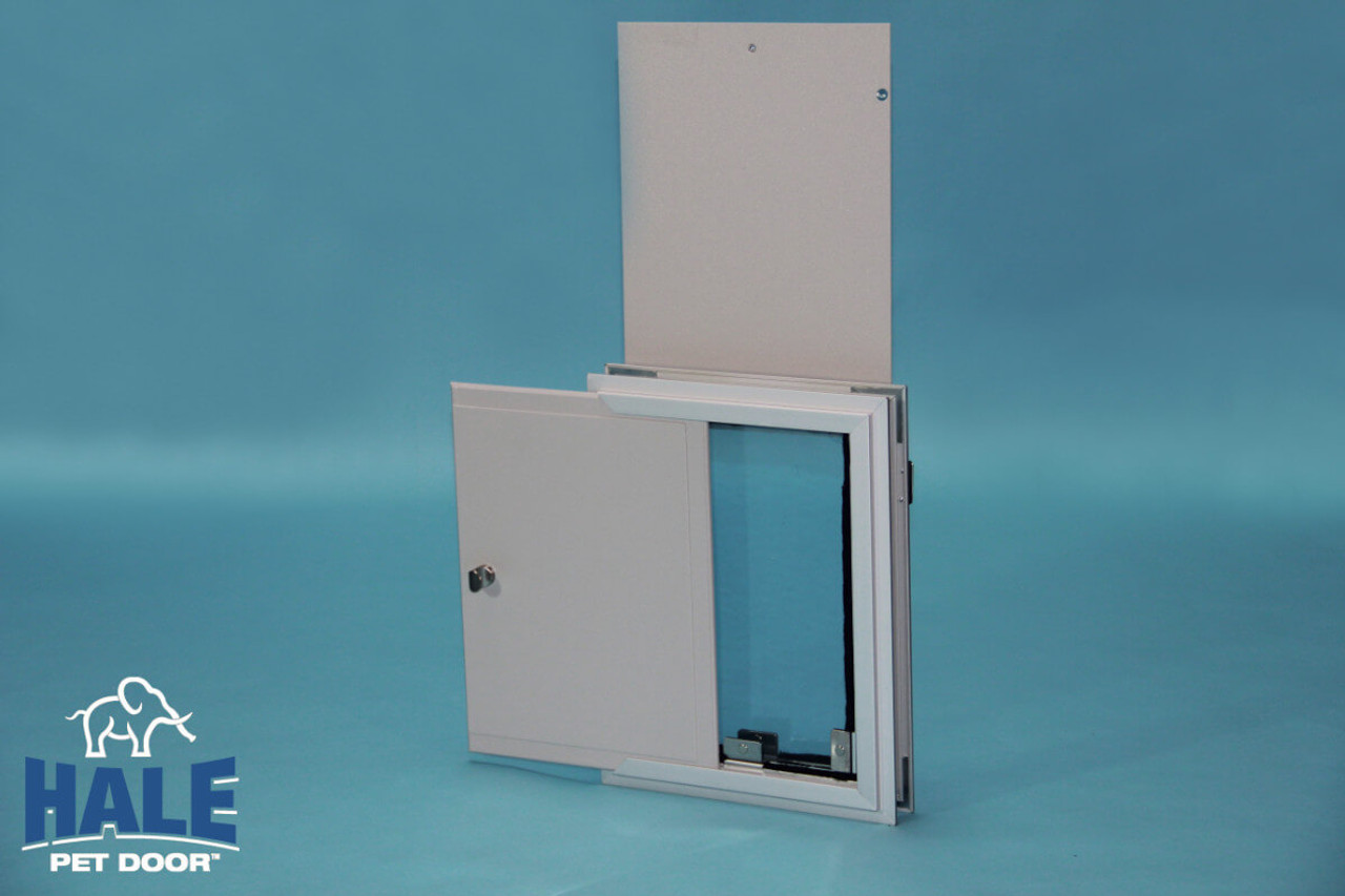 Hale Pet Doors offer a second locking cover as an option