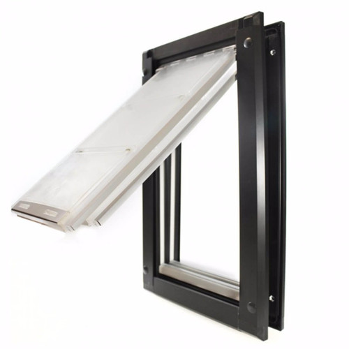 Endura Flap pet doors are very weather tight and feature hollow flaps that are soft but still swing from a hinge to save wear