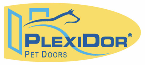 PlexiDor doggy doors are attractive weather tight pet doors that open in the middle like a saloon door