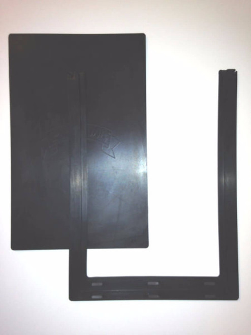 Pride pet door flaps have a center flap and an outer U shaped flap and are interchangeable with Johnson pet doors