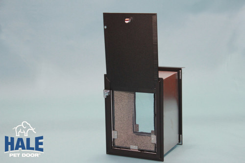 Hale Pet Door for walls can be had with double flaps for extra wind resistance