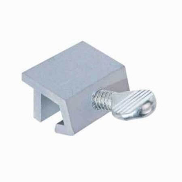 This clamp on sliding door lock is a generic lock that works with any panel pet door and requires no tools to install