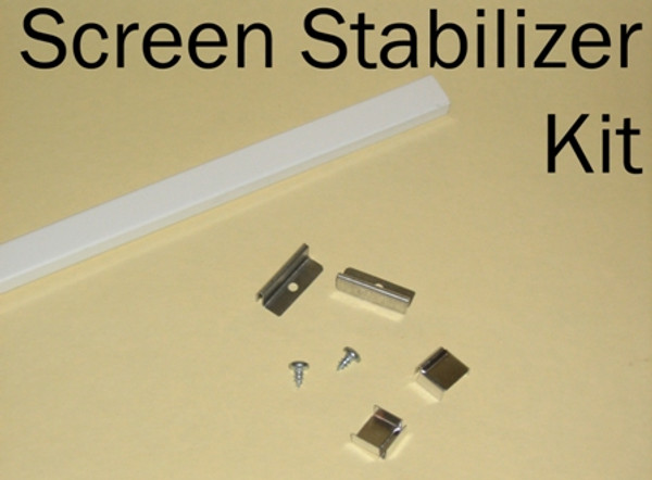 Hale Screen Stabilizer Bars attach to the screen frame and to the pet door to strengthen the installation