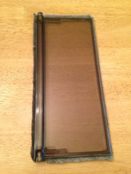 PlexiDor dog doors use plexiglas flaps that are very sturdy but if you should need to replace one they are sold separately