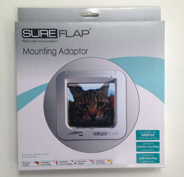 SureFlap Mounting Adapters can be used to install their electronic cat and dog doors on thin surfaces such as glass and plywood
