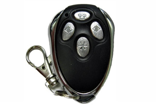 Autoslide electric sliding glass door openers can be used with this key fob remote control, which can open the door from up to 30 feet away