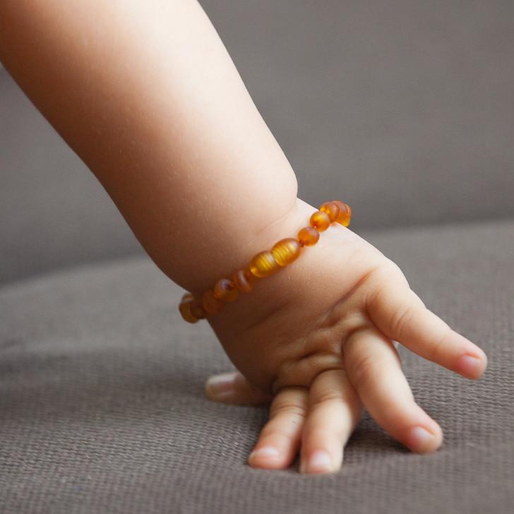 Amber teething, drooling  & colic anklet / bracelet  - maximum strength honey RAW