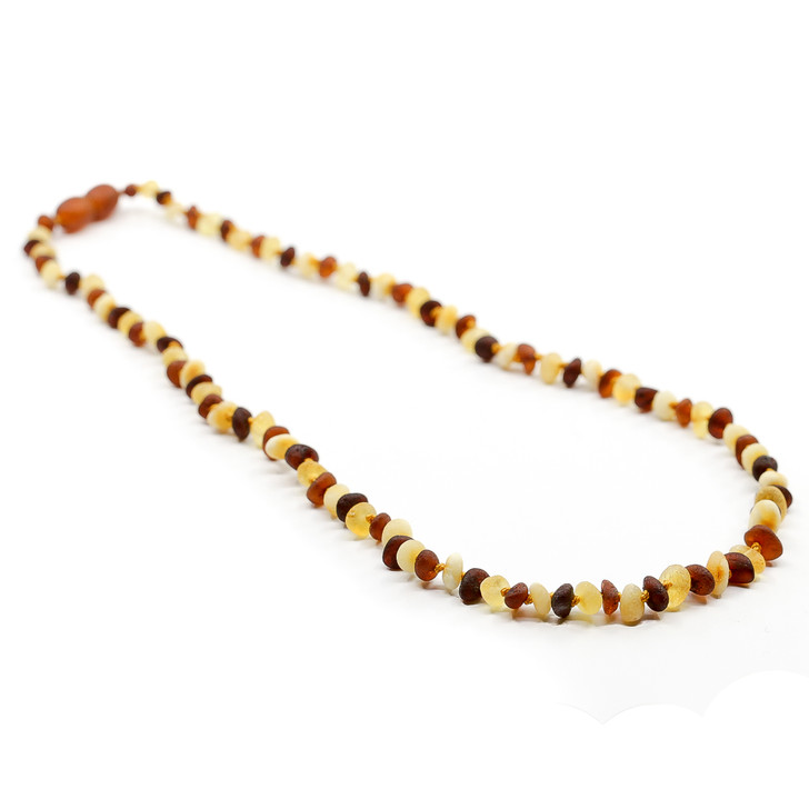 Youth unpolished RAW multicolor chips amber healing necklace
