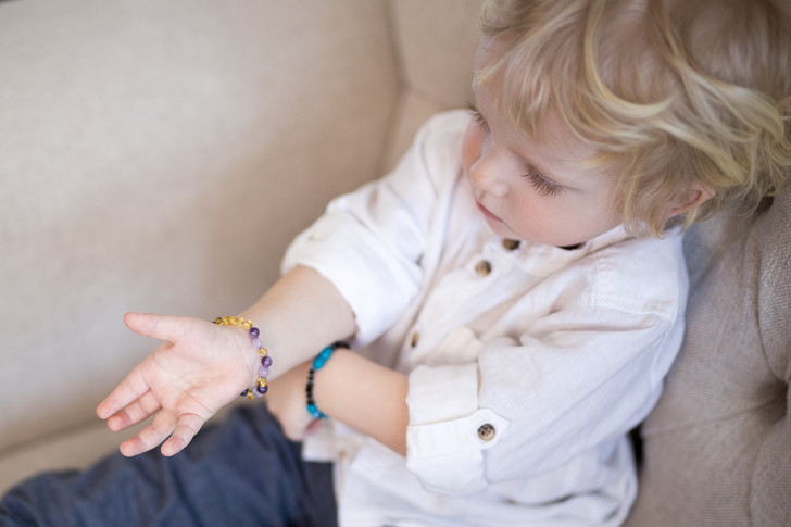 Amber/ Amethyst/ Jade bracelet/ anklet • Polished Lemon Baroque