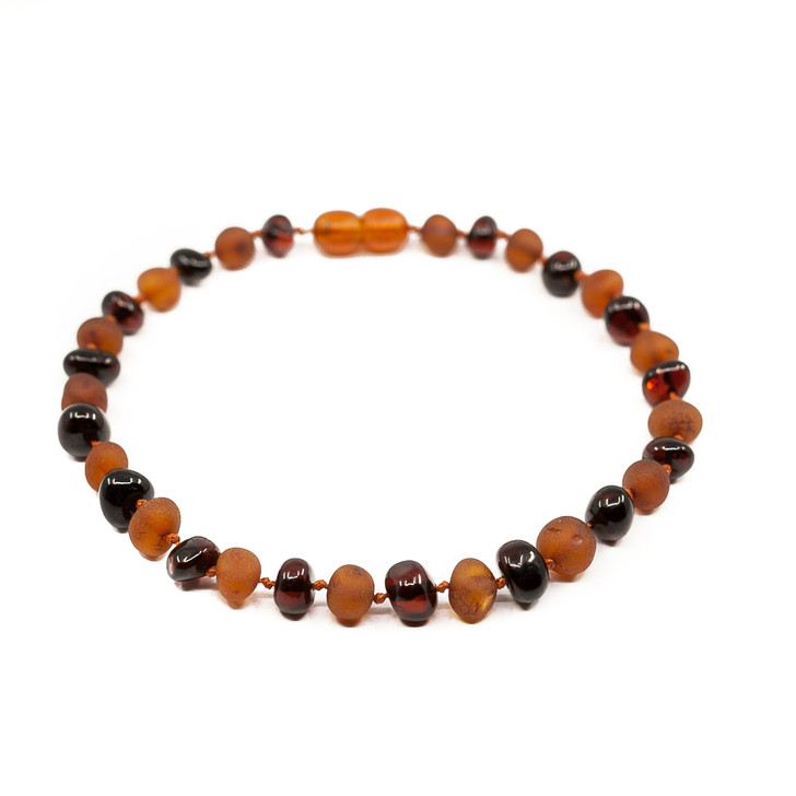 Baltic Amber Anklet for ADULTS • Mixed Cognac Baroque