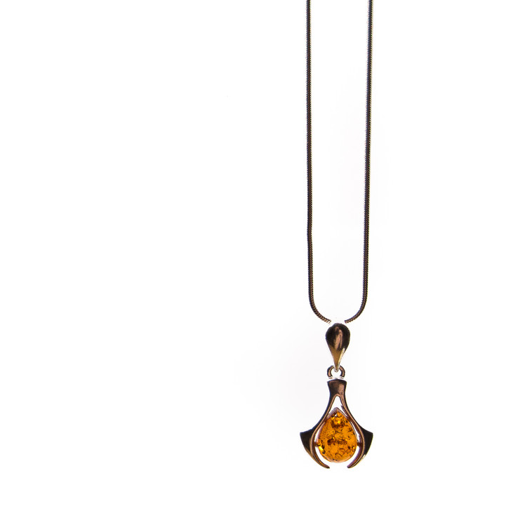 Silver & Baltic Amber Pendant