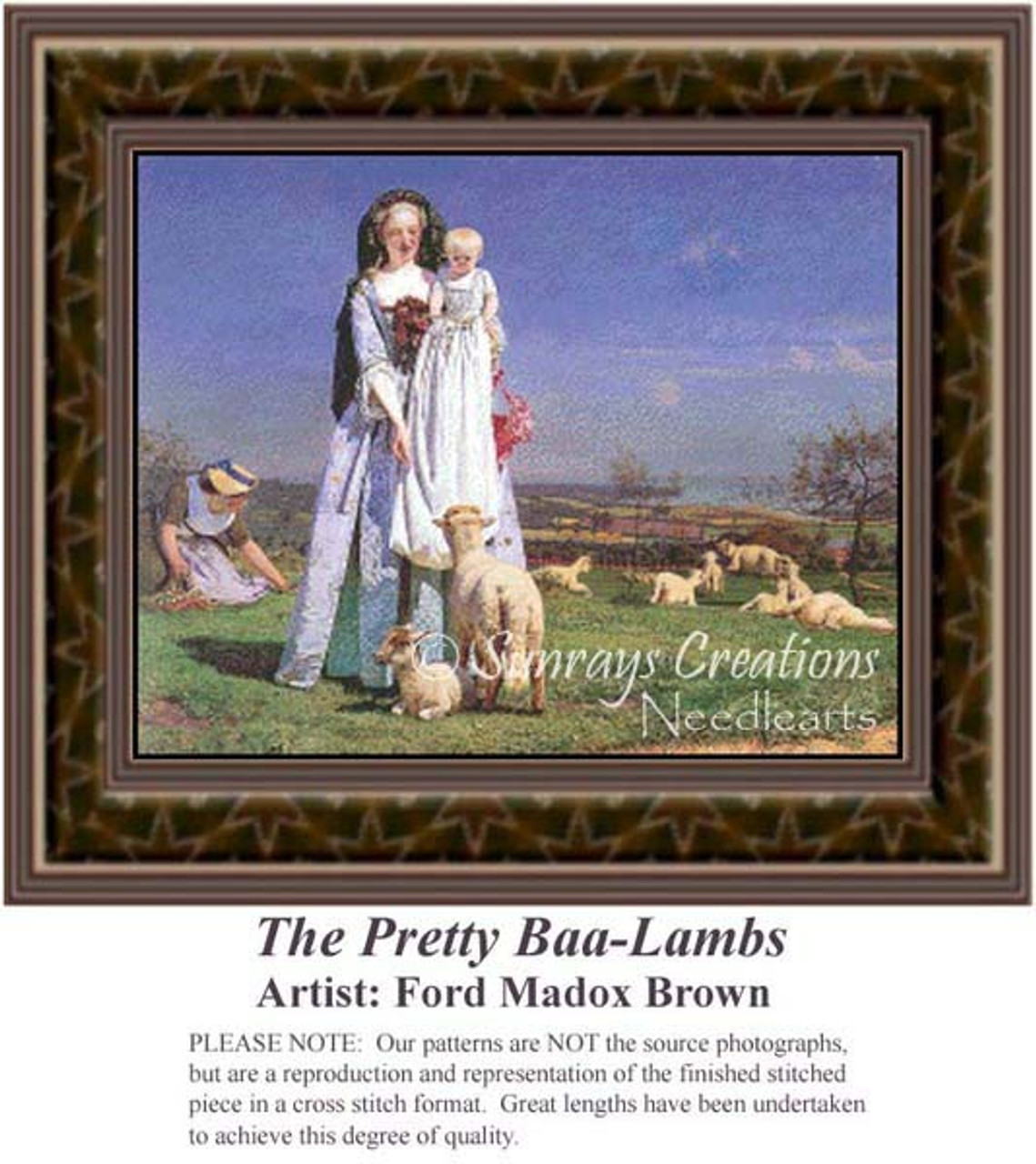 The Pretty Baa Lambs Re 1022 Sunrays Creations