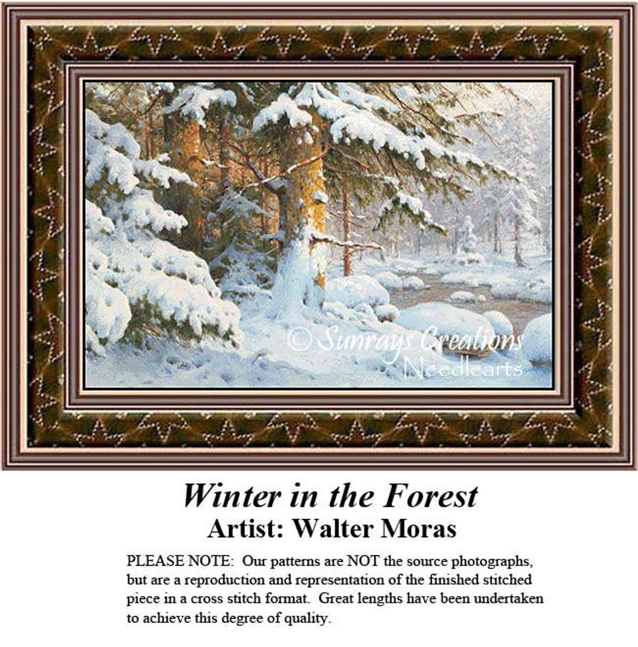 Not a Kit Church in the Forest Cross Stitch Pattern