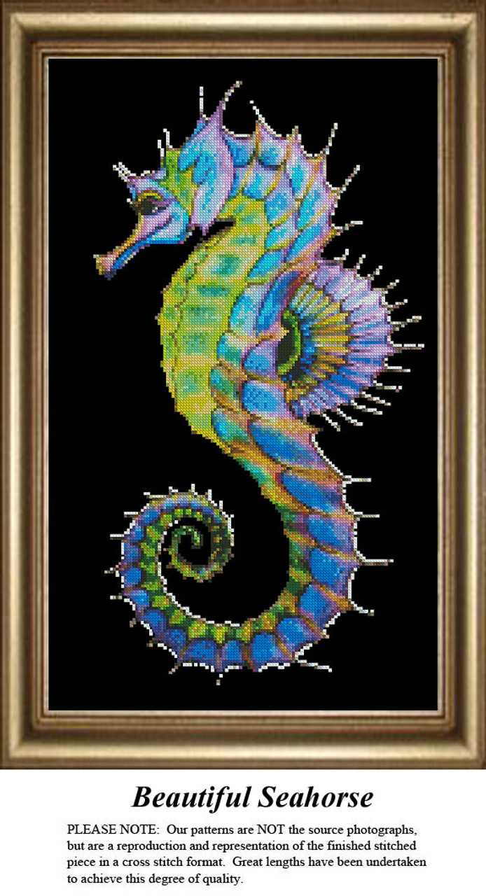 Animal Cross Stitch Patterns Beautiful Seahorse