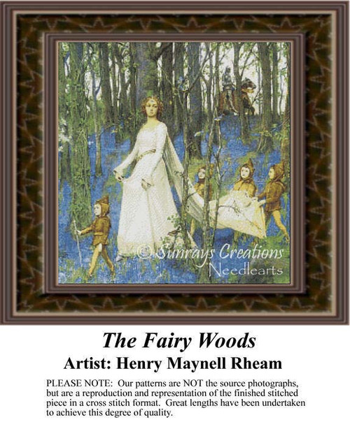 The Fairy of the Daisy, Fantasy Cross Stitch Pattern