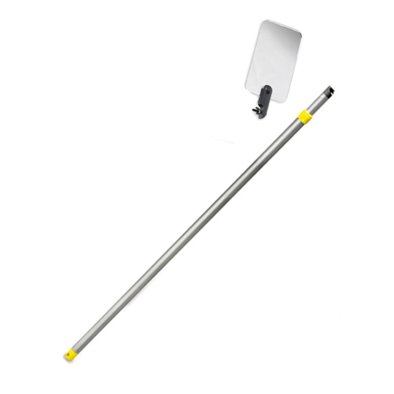 Inspection Mirror Telescoping 2 ft - 4 ft Pole with 3.5 in x 6 in Acrylic Mirror (Home Inspection, etc)