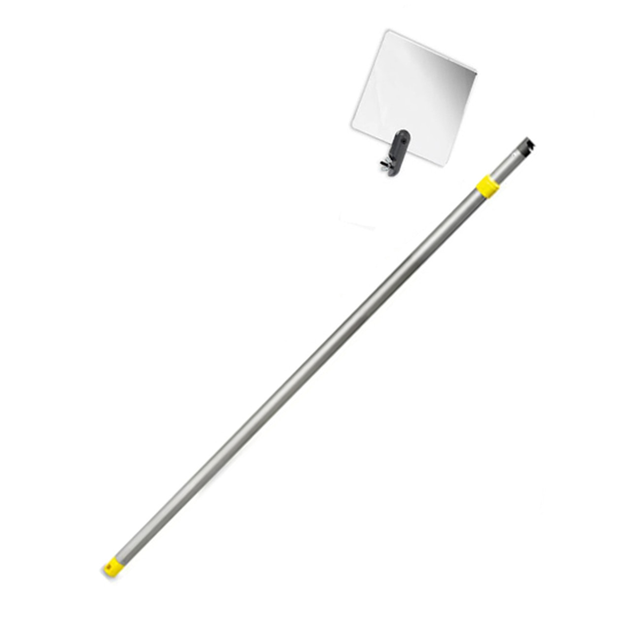 Inspection Mirror Telescoping 2 ft - 4 ft Pole with 6 in x 6 in Acrylic Mirror (Home & Septic Inspection etc)