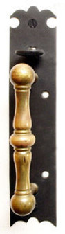 Norfolk Interior Thumb Latch or Pull (Square Handle - Brass)