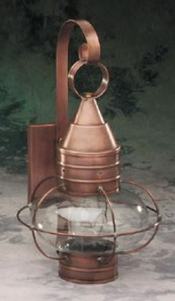 Onion Wall Lantern - Medium Shown with Antique Copper Finish