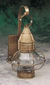 Onion Wall Lantern - Small Shown with Antique Brass Finish