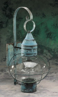 Onion Wall Lantern - Large Shown with Verde Green Finish