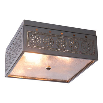 Square Pierced Tin Ceiling Light