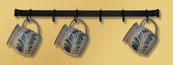 24 Inch Wall Rack with 5 Hooks